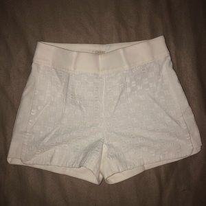 NWT J.Crew Factory Eyelet and Basket-Weave Short